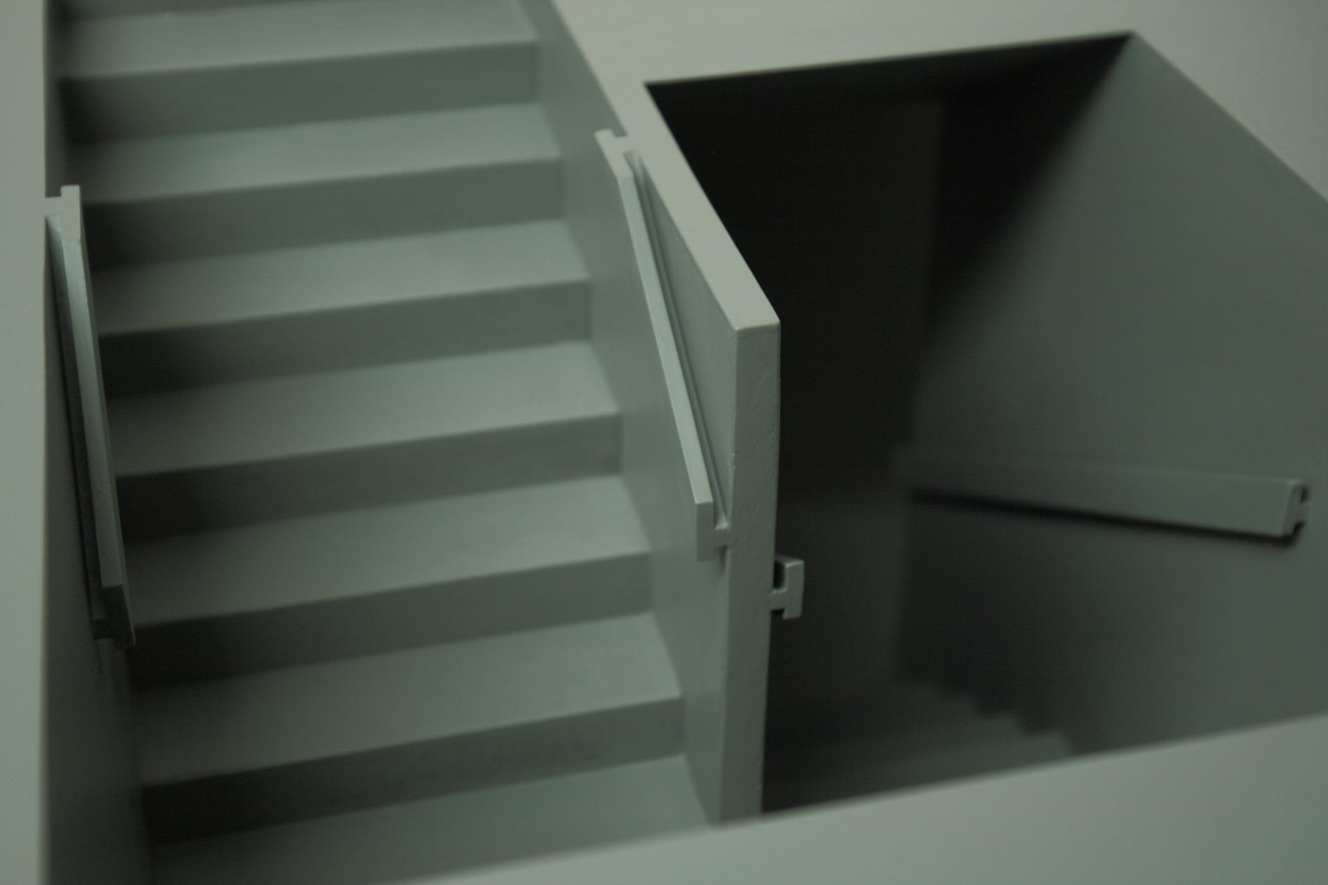 """Michael Göbel - Stufen II (aus der Serie der """"Gedankengebäude""""), 2016"""