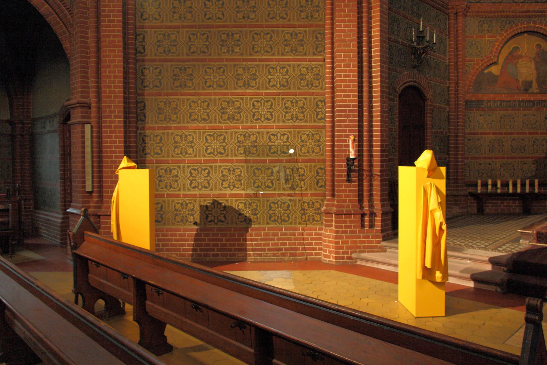 """Michael Göbel - Ausstellung """"Bergungen"""" - Bergkirche, Wiesbaden, 2013"""