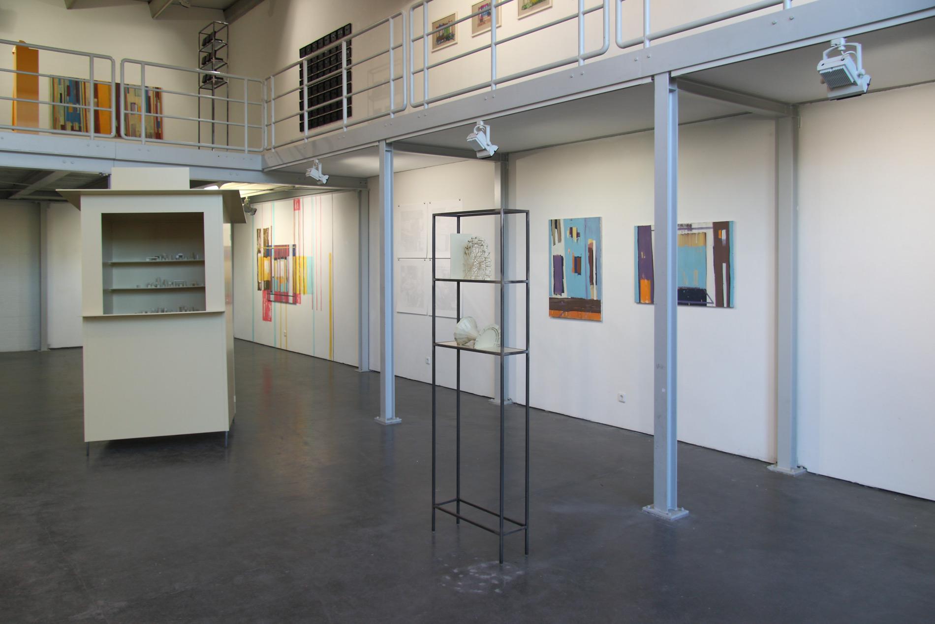 """Michael Göbel - Ausstellung """"Raumfluchten"""" -  Galerie im Artforum, Offenburg, 2014"""