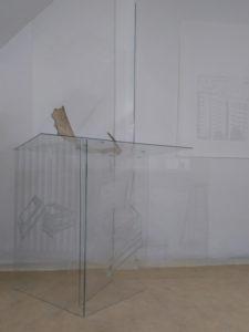 Glasarbeit Atelierrundgang 2018